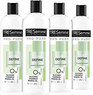 TRESemmé Pro Pure Conditioner Silicone-Free for Curly Hair Pro Pure Curl Define 0% Silicones, Parabens, and Mineral Oils a...