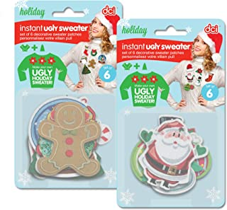 DCI Ugly Christmas Sweater, DIY Ugly Sweater Kit, 6 Piece Set