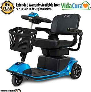 Pride Revo 2.0 3-Wheel Mobility Scooter w/Avail Ext Warr (Blue)