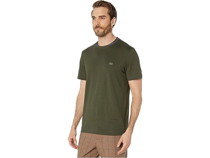 Lacoste Mens Short Sleeve Reg Fit Jersey Semi Fancy Collar