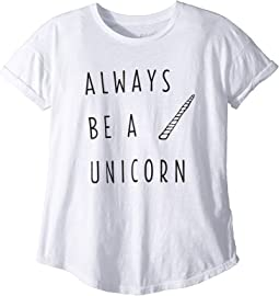 Always Be A Unicorn Short Sleeve Slub Tee (Big Kids)