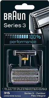 Braun Series 3 31S Foil & Cutter Replacement Head, Compatible with Previous Generation Series 3, Contour, Flex XP, and Flex integral