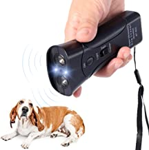 Handheld Dog Repellent & Trainer, Bark Stopper with LED Flashlight,Ultrasonic Infrared Dog Deterrent for Safety,Outdoor,Walking, Dog Trainer 100% Pet & Human Safe
