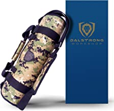 DALSTRONG - Ballistic Series Knife Roll - Premium Ballistic Nylon & Top Grain Leather Roll Bag - 22 Knife Slots - Interior and Rear Zippered Pockets - Blade Travel Storage/Case - (Digital Camouflage)
