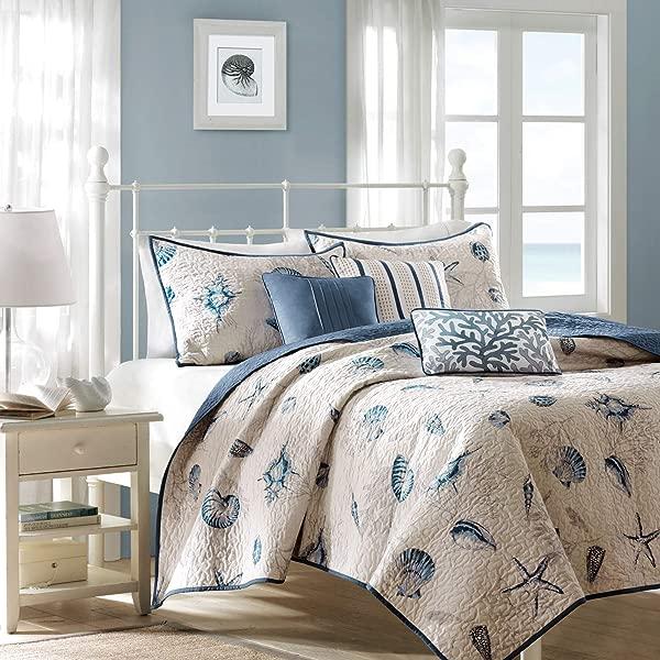 Madison Park Coverlet Bedspread King Blue