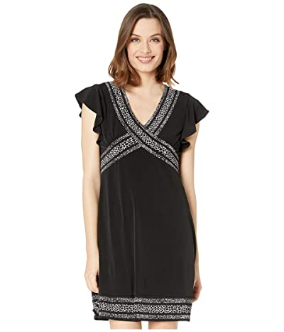 MICHAEL Michael Kors Snake Mini Dress (Black) Women