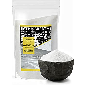 Dead Sea Salt, Spa Bath Salts, 19 Lbs Fine Grain Large Bulk resealable Pack, 100% Pure & Natural, Used for Body wash Scrub, Soak for Women & Men to Relax Tired Muscles and Treat Skin Issues