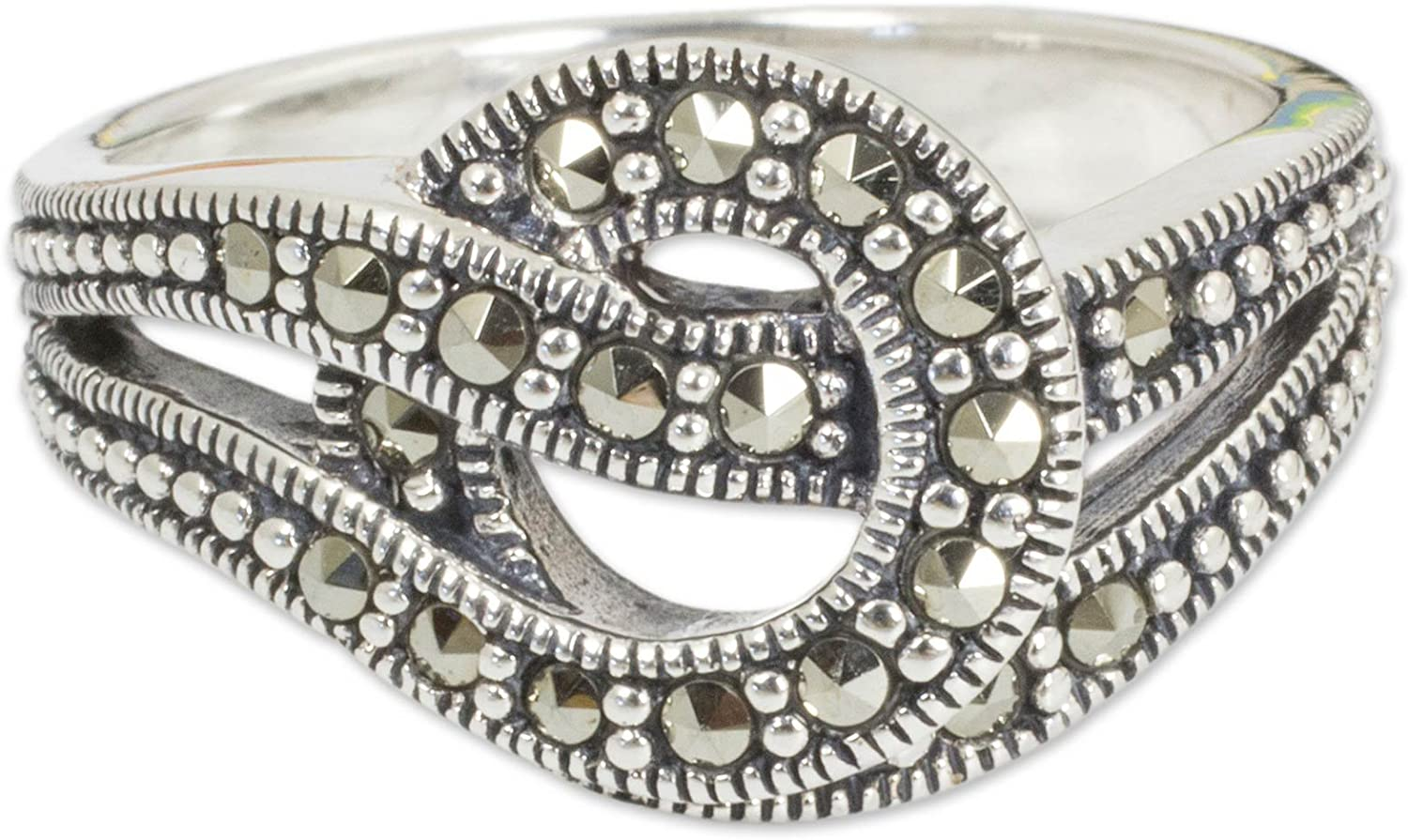 NOVICA New product type Marcasite .925 Sterling excellence Silver Love Ring Crafted Artisan