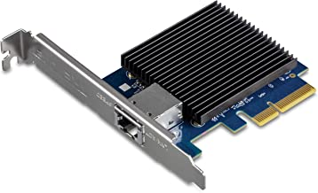TRENDnet 10 Gigabit PCIe Network Adapter, TEG-10GECTX, Converts a PCIe Slot into a 10G Ethernet Port, Supports 802.1Q Vlan, Includes Standard & Low-Profile Brackets, Windows/Server, PCIe 2.0, PCIe 3.0