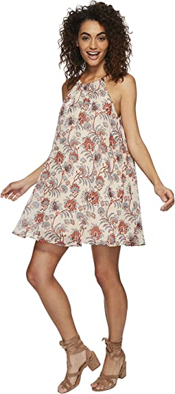 Alissa Printed Trapeze Dress