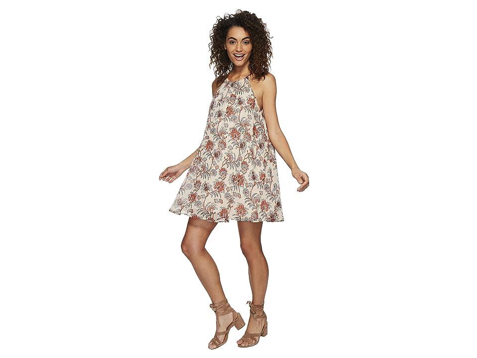 BB Dakota Alissa Printed Trapeze Dress (Dew) Women