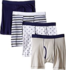 Monster Cotton Boxer Briefs 4-Pack (Toddler/Little Kids/Big Kids)