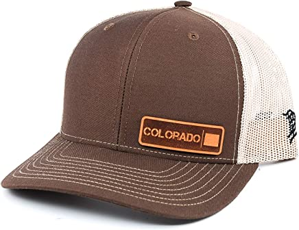 e51c1fad4 Branded Bills 'The Colorado Native' Leather Patch Hat Curved Trucker