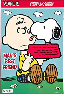 Bendon Peanuts Man's Best Friend Kids Children 32 Page Jumbo Coloring and Activity Book