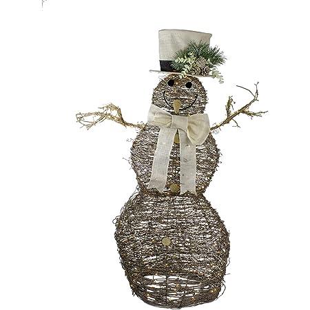 Northlight 48 Led Lighted Rattan Snowman Outdoor Christmas Decoration Garden Outdoor