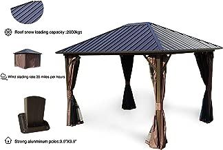 Best solid roof gazebo Reviews