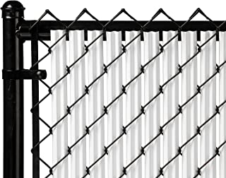 Ridged Slats Slat Depot Single Wall Bottom Locking Privacy Slat for 3', 4', 5', 6', 7' and 8' Chain Link Fence (8ft, White)