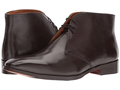 CARLOS by Carlos Santana Corazon Chukka Boot (Dark Brown Full Grain Calfskin Leather) Men
