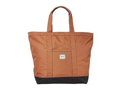 Herschel Supply Co. Bamfield Mid-Volume (Saddle Brown/Black) Tote Handbags
