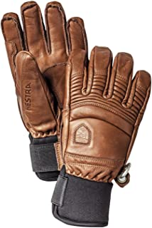 Hestra Mens Ski Gloves: Fall Line Winter Cold Weather Leather Glove