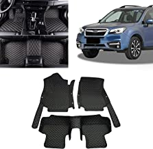 Toryea 3D Covered Classic Leather Made All Full Surrounded Floor Mats Fit Subaru Forester 2013 2014 2015 2016 2017 2018