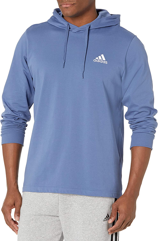 adidas mens Max 70% OFF Small Logo Long Beach Mall Single Hoodie Jersey