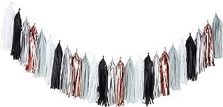 Fonder Mols Tassel Garland DIY Kit Balloon Tail Tassels Set(25pcs, Black Gray White Rose Gold Silver) for Wedding Bridal Shower Birthday Party Bachelorette Decorations A03