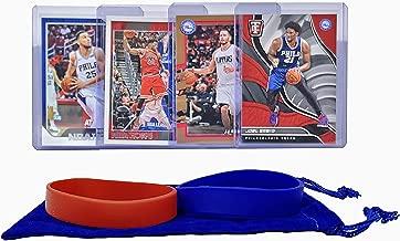 Philadelphia 76ers Basketball Cards: Joel Embiid, Ben Simmons, J.J Redick, Jimmy Butler ASSORTED Basketball Trading Card and Wristbands Bundle