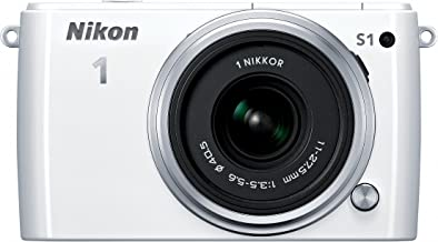 Nikon 1 S1 10.1 MP HD Digital Camera with 11-27.5mm 1 NIKKOR Lens (White)