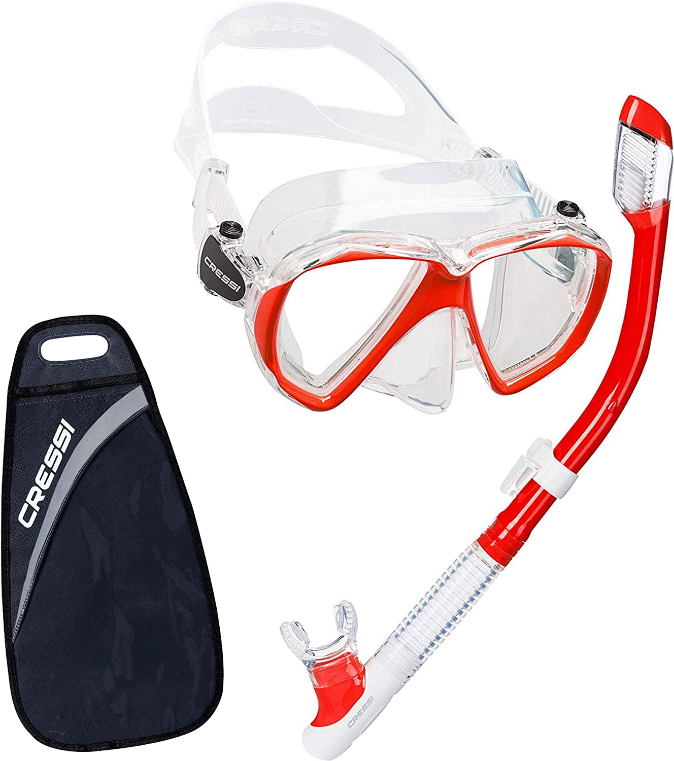 Ranger /& Tao: Designed in Italy Cressi Adult Snorkeling Kit: Mask Dual Lens Mask Made of Soft Silicone: Perfect Seal /& Perfect Fit Choose Semi-Dry or Dry Snorkel Snorkel
