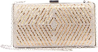 Women's Crystal Beaded Clutches Rhinestone Evening Bags Purses Glitter Shoulder handbag for Prom Wedding Party