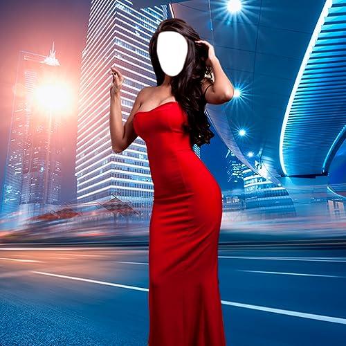 Frau Langes Kleid Foto-Montage