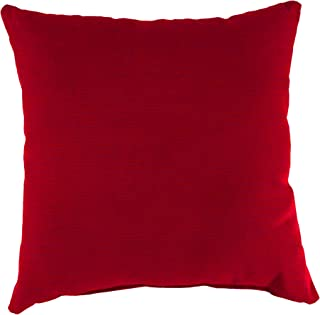 Mainstay Solid Red Outdoor Patio Dining Seat Back Pillow Cushion
