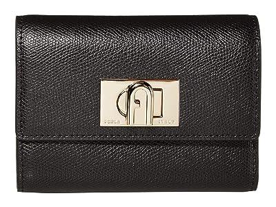 Furla 1927 Medium Bifold (Nero) Handbags