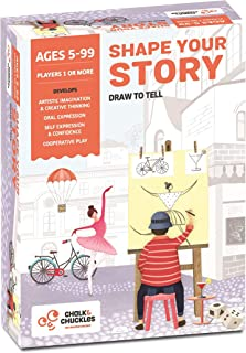 Chalk and Chuckles Shape Your Story - Drawing and Storytelling Game - Creativity and Fun, Perfect for Classrooms and Families (6 to 99 Years)