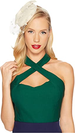 Unique Vintage - Rita Cross Halter Top