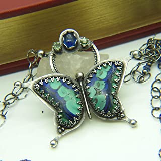 Metamorphosis Necklace - Azurite Malachite in Sterling Silver