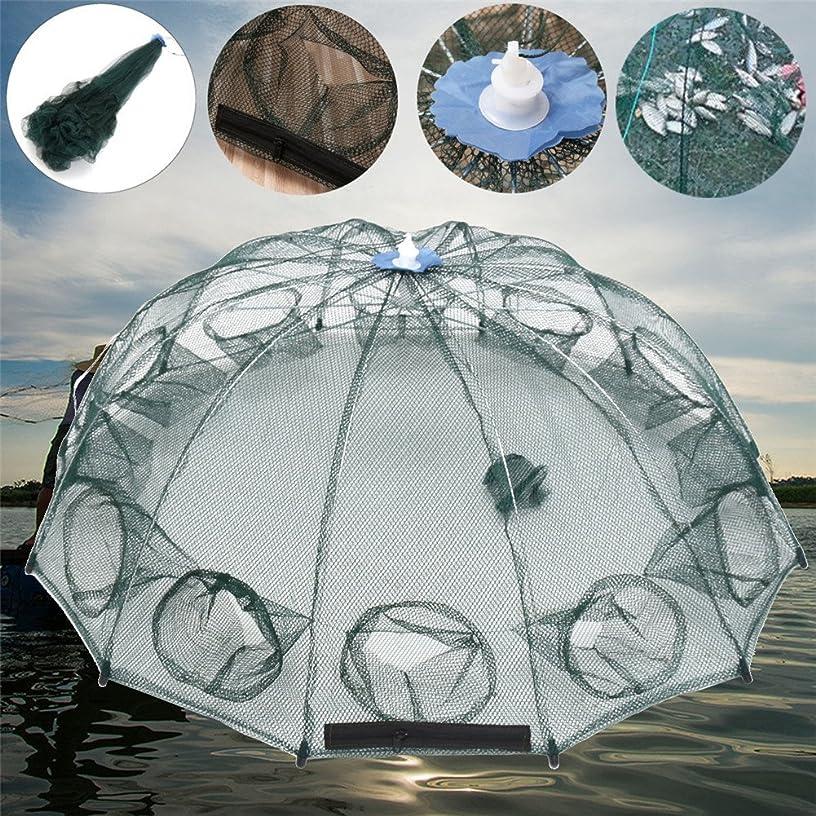 文献用量競合他社選手Lacyie 漁具 魚捕り網 網自動漁網 魚網 軽量 コンパクト収納 折り畳み式 完成仕掛け エビ/カニ/魚など ばっちり捕獲