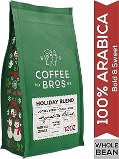 Coffee Bros., Holiday Blend Coffee from Costa Rica, Whole Bean, Medium Roast, Limited Edition Single Origin Coffee, 12oz