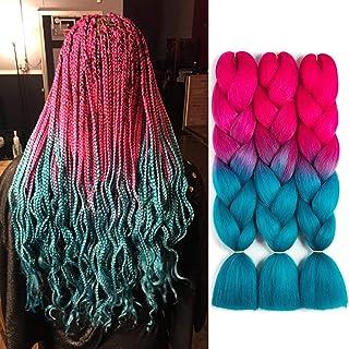 SONNET Ombre Braiding Hair Kanekalon 3bundles/lot 300g Colored Hair Extension Jumbo Braid..