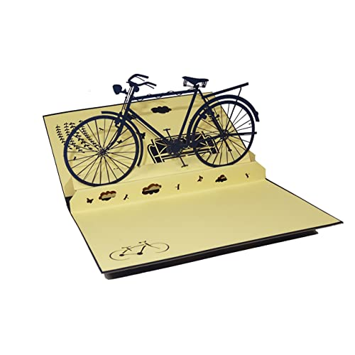Bicycle Design 3D Pop Up Card Greeting Birthday Bike Gift Cyclist Blue