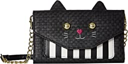 Sissy 3D Cat Kitsch Straw Crossbody