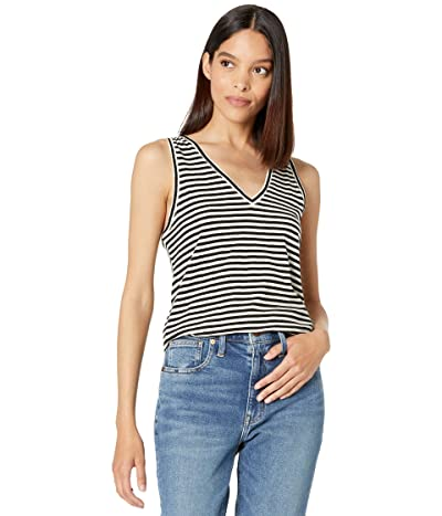 Madewell Whisper Cotton V-Neck Tank in Tierney Stripe