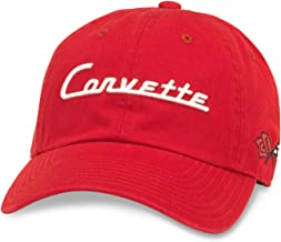 American Needle Ballpark Corvette Baseball Dad Hat (GM-1903A-RED)