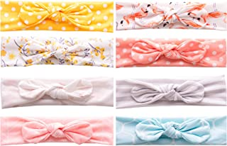 Prohouse 8Packs Baby Girls Headbands with Bows Infant Toddler Headwrap Hair Accessories
