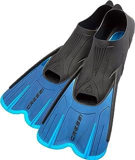 Cressi Agua Short Aletas de Snorkeling, Unisex Adulto, Azul, 35/36