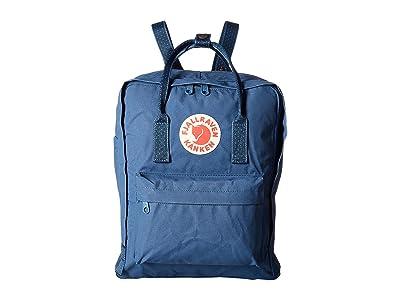 Fjallraven Kanken (Royal Blue/Pinstripe Pattern) Backpack Bags