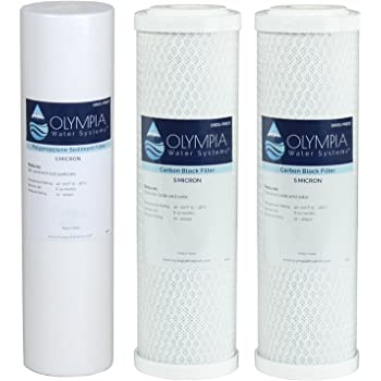 Stages 1 2 /& 3 10 Replacement Filters 10 Replacement Filters CFS COMPLETE FILTRATION SERVICES EST.2006 Compatible with Olympia Water Systems 5 Micron Replacement Filter Kit