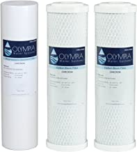 "Olympia Water Systems 5 Micron Replacement Filter Kit - Stages 1, 2 & 3, 10"" Replacement Filters - OWS25"