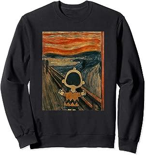 Peanuts Charlie Brown Scream Artsy Pullover Sweatshirt